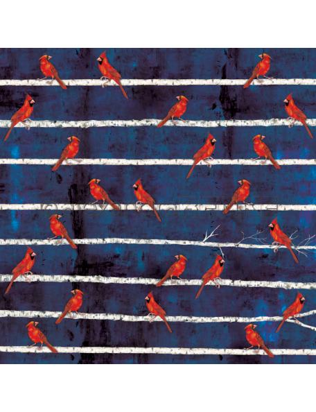 Alexandra Renke Cardstock una cara 30,5x30,5 cm, Winterbirds Kardinalsvogel