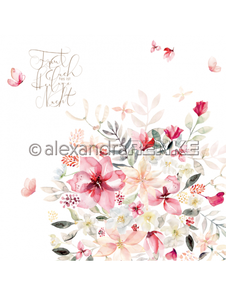 Alexandra Renke Cardstock una cara 30,5x30,5 cm, X-Mas floral Amaryllis
