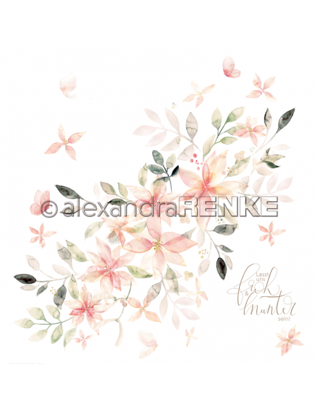 Alexandra Renke Cardstock una cara 30,5x30,5 cm, X-Mas floral Weihnachtsstar