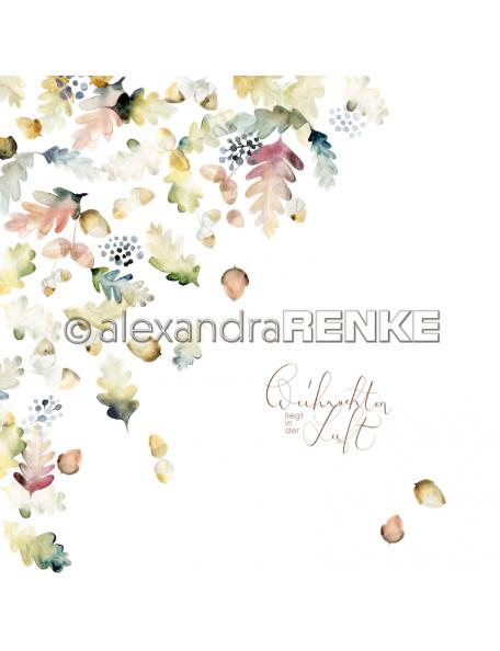 Alexandra Renke Cardstock una cara 30,5x30,5 cm, X-Mas floral Eichel