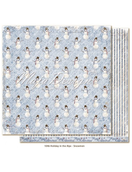 "Maja Design Holiday in the Alps Cardstock de doble cara 12""x12"", Snowmen"