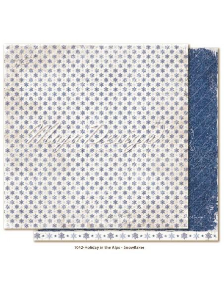 "Maja Design Holiday in the Alps Cardstock de doble cara 12""x12"", Snowflakes"