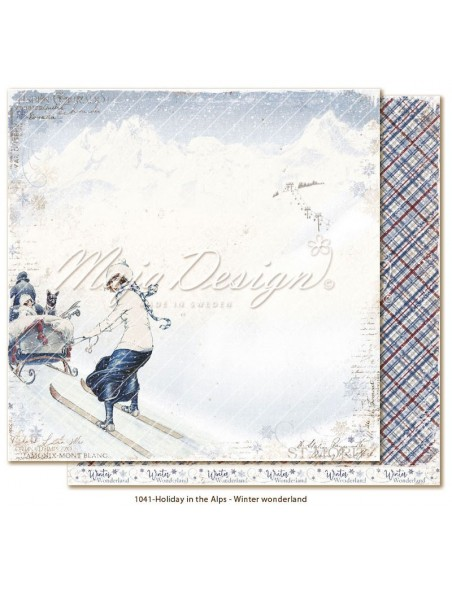 "Maja Design Holiday in the Alps Cardstock de doble cara 12""x12"", Winter Wonderland"
