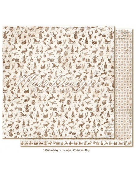 "Maja Design Holiday in the Alps Cardstock de doble cara 12""x12"", Christmas Day"