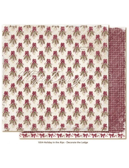 "Maja Design Holiday in the Alps Cardstock de doble cara 12""x12"", Decorate the Lodge"