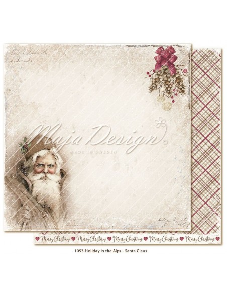 "Maja Design Holiday in the Alps Cardstock de doble cara 12""x12"", Santa Claus"