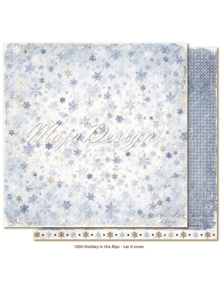 "Maja Design Holiday in the Alps Cardstock de doble cara 12""x12"", Let it snow"