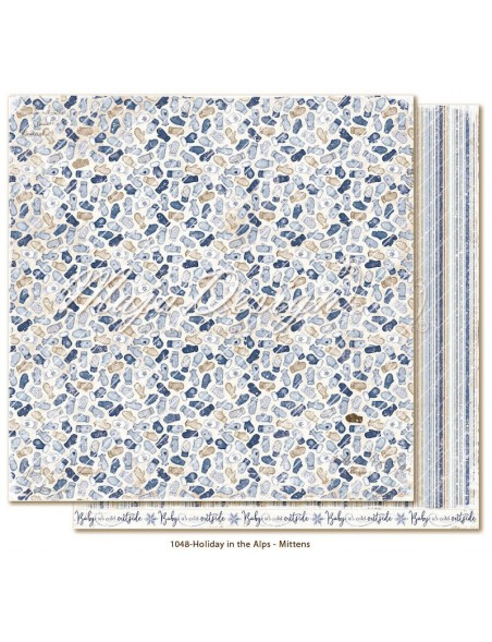 "Maja Design Holiday in the Alps Cardstock de doble cara 12""x12"", Mittens"