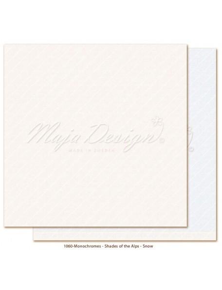 "Maja Design Monochromes Shades of the Alps Cardstock de doble cara 12""x12"", Snow"