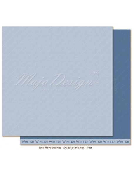 "Maja Design Monochromes Shades of the Alps Cardstock de doble cara 12""x12"", Frost"