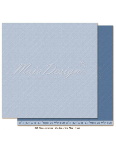 "Maja Design Monochromes Shades of the Alps Cardstock de doble cara 12""x12"", Frost"