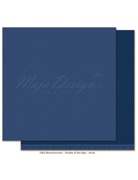 "Maja Design Monochromes Shades of the Alps Cardstock de doble cara 12""x12"", Arctic"