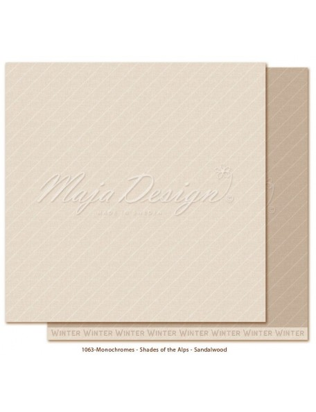 "Maja Design Monochromes Shades of the Alps Cardstock de doble cara 12""x12"", Sandalwood"