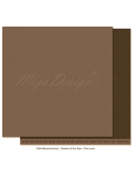 "Maja Design Monochromes Shades of the Alps Cardstock de doble cara 12""x12"", Pine cone"