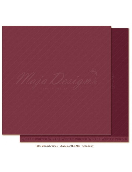 "Maja Design Monochromes Shades of the Alps Cardstock de doble cara 12""x12"", Cranberry"