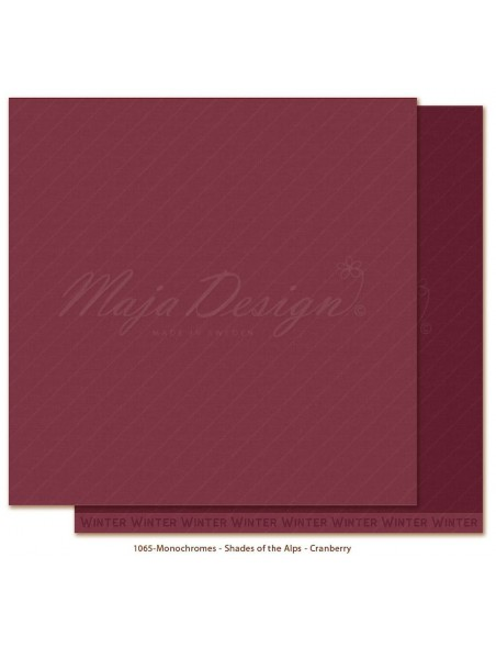 "Maja Design Monochromes Shades of the Alps Cardstock de doble cara 12""x12"", Cranberry"