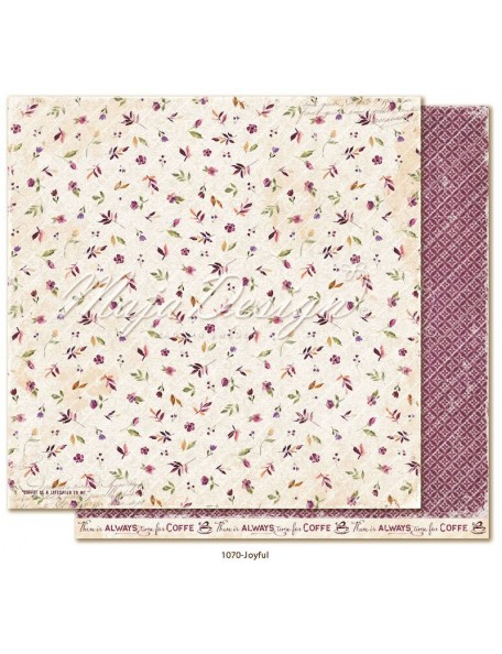 "Maja Design Little street café Cardstock de doble cara 12""x12"", Joyful"