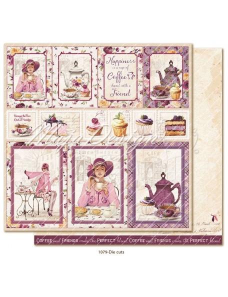 """Maja Design Little street café Cardstock de doble cara 12""""x12"""", Die cuts"""