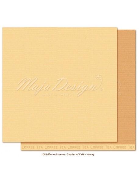 """Maja Design Monochromes Shades of Café Cardstock de doble cara 12""""x12"""", Honey"""