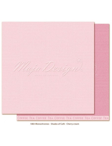 "Maja Design Monochromes Shades of Café Cardstock de doble cara 12""x12"", Cherry cream"