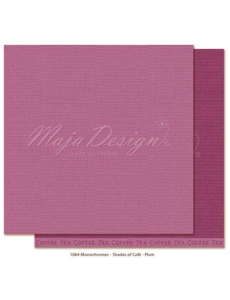 """Maja Design Monochromes Shades of Café Cardstock de doble cara 12""""x12"""", Plum"""