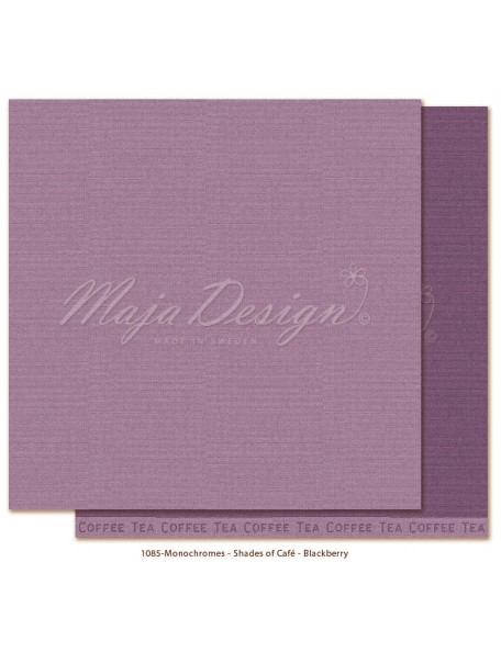 "Maja Design Monochromes Shades of Café Cardstock de doble cara 12""x12"", Blackberry"