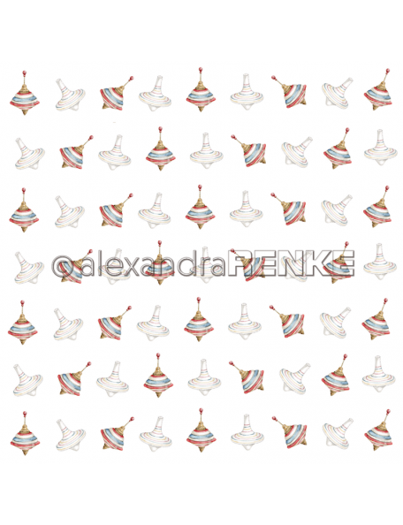 Alexandra Renke Cardstock una cara 30,5x30,5 cm, Weihnachtskinder Rapport Kreisel
