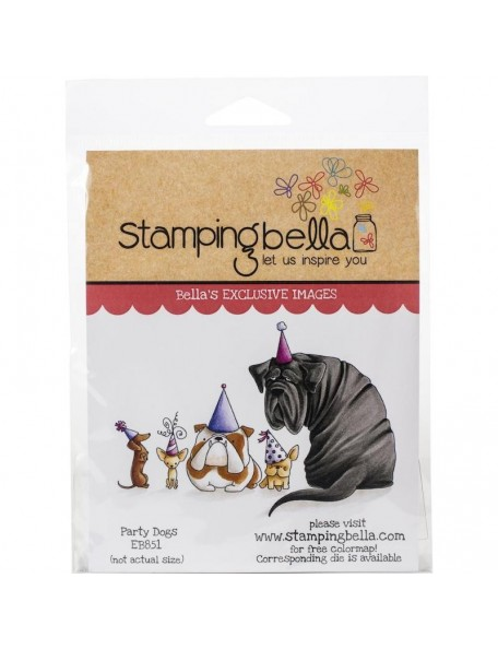 Stamping Bella Cling Stamps, Party Dogs