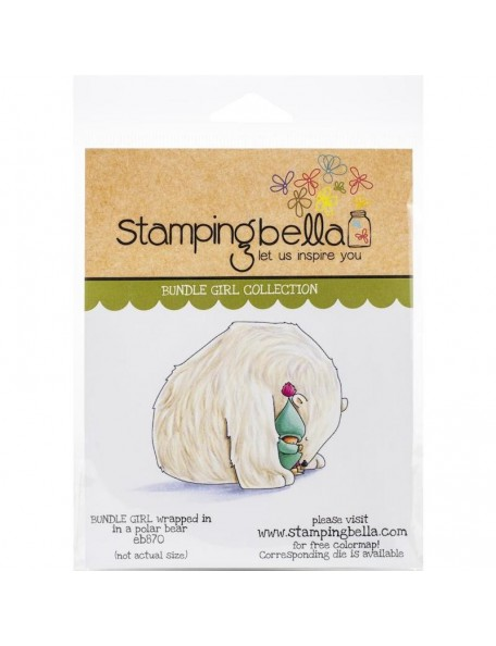 Stamping Bella Sello, Bundle Girl Wrapped In A Polar Bear