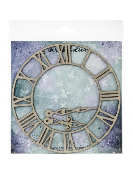 Scrapaholics Embellecedores Chipboard, Reloj Romano