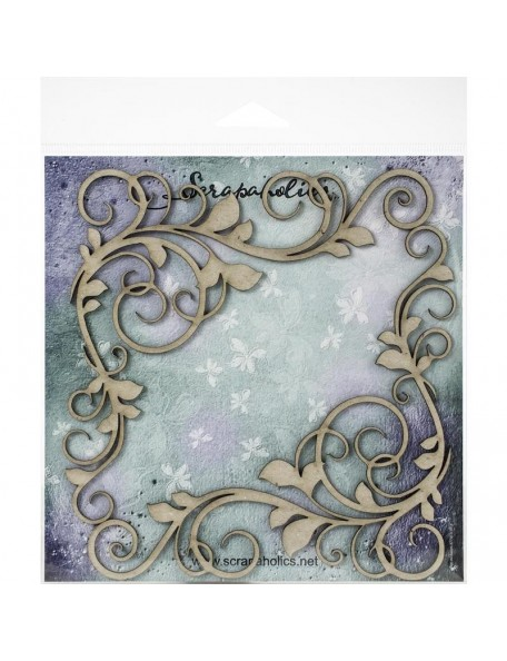 Scrapaholics Embellecedores Chipboard, Esquinera Flourish