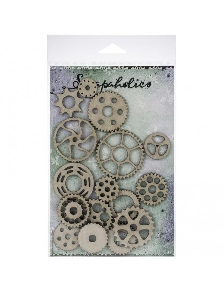Scrapaholics Embellecedores Chipboard, Engranaje