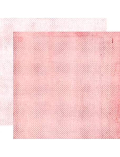 "Simple Vintage My Valentine Cardstock de doble cara 12""X12"", Carnation/Blush Dots Simple Basics"