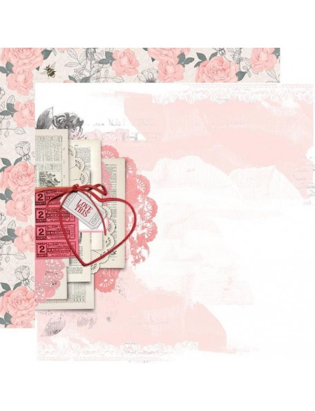 "Simple Vintage My Valentine Cardstock de doble cara 12""X12"", Just A Crush"