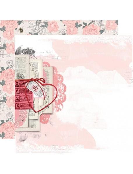 "Simple Vintage My Valentine Cardstock de doble cara 12""X12"", Just A Crush"
