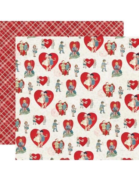 "Simple Vintage My Valentine Cardstock de doble cara 12""X12"", Sweet On You"