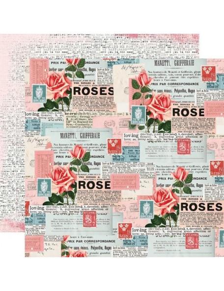 "Simple Vintage My Valentine Cardstock de doble cara 12""X12"", Be Mine"