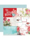"Simple Vintage My Valentine Cardstock de doble cara 12""X12"", 4""X6"" Elements"