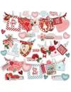 "Simple Vintage My Valentine Pegatinas 12""X12"", Banners"
