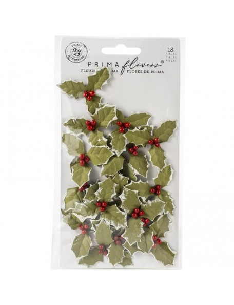 Prima Marketing Mulberry Flores de Papel, Merry Twilight/Christmas In The Country