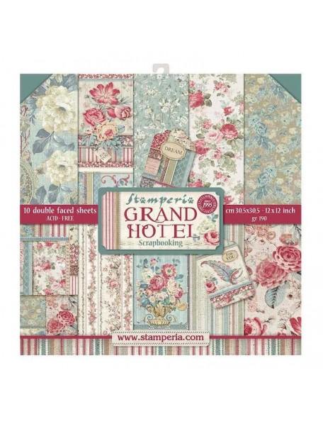 "Stamperia Grand Hotel Bloc de Cardstock de doble cara 12""X12"", SBBL57"