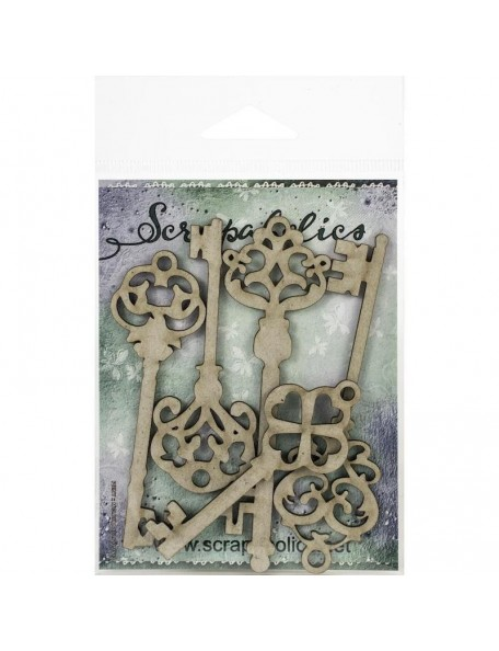 Scrapaholics Embellecedores Chipboard, Flourish Bits