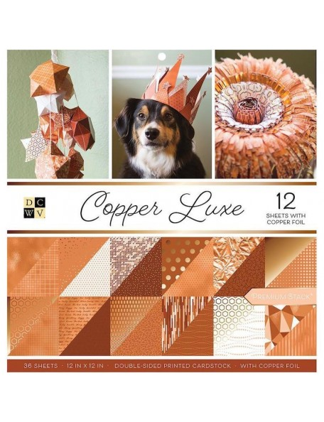 "DCWV Copper Luxe 12""X12"""