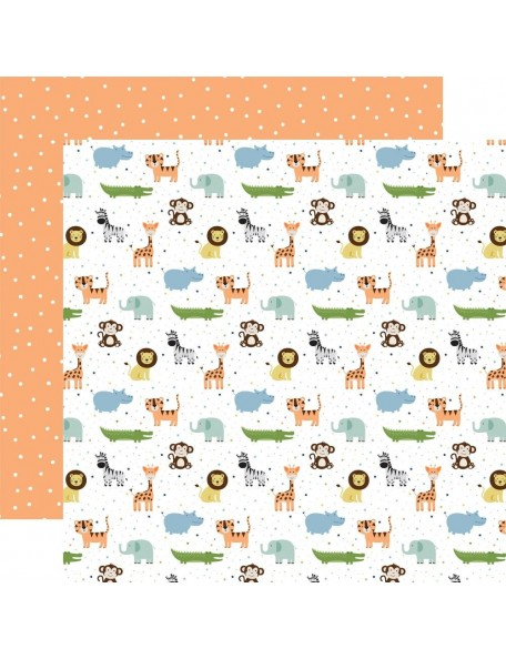"Echo Park Baby Boy Cardstock de doble cara 12x12"", Bundle Of Joy"