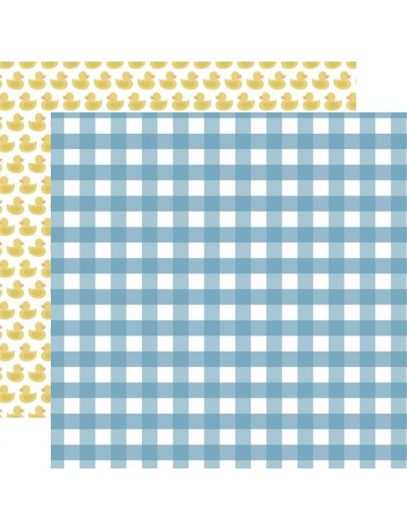 "Echo Park Baby Boy Cardstock de doble cara 12x12"", Boy Gingham"