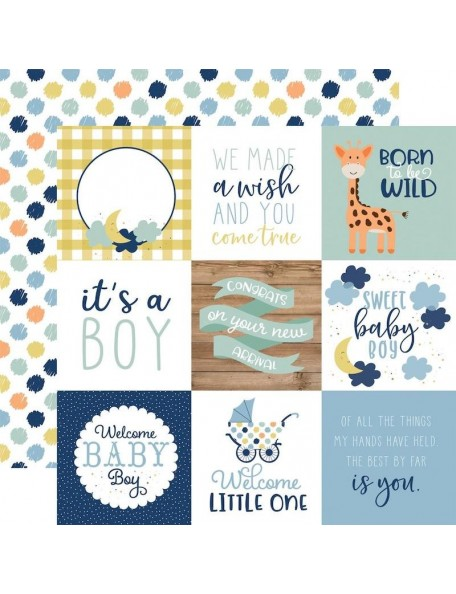 Echo Park Baby Boy, 4x4 Journaling Cards
