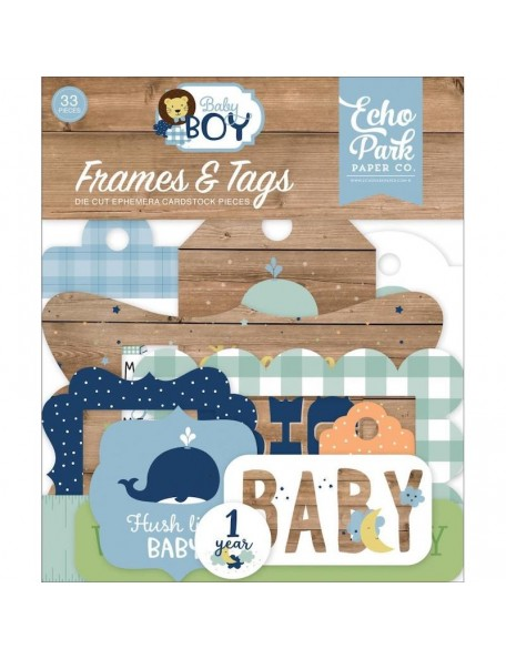 Echo Park Baby Boy Etiquetas Decorativas