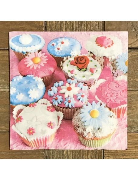SERVILLETA Cupcakes 16,3X16,3CM