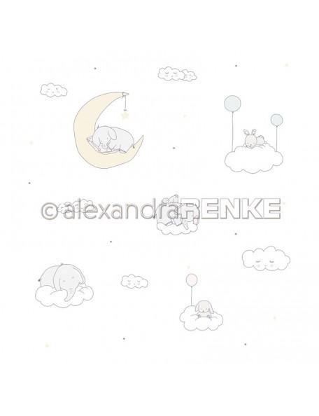 Alexandra Renke Cardstock una cara 30,5x30,5 cm, Baby Elefanten im Himmel