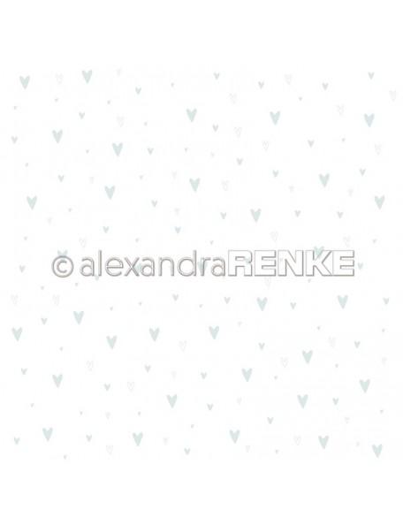 Alexandra Renke Cardstock una cara 30,5x30,5 cm, Baby blau Herzen